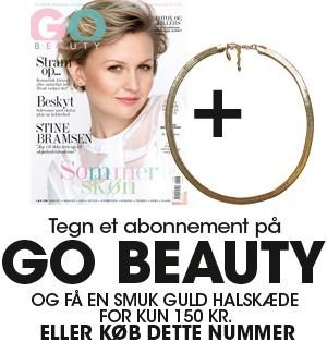 Tegn et abonnement hos Go Beauty og fået et lækkert læderarmbånd for kun 249 kr.